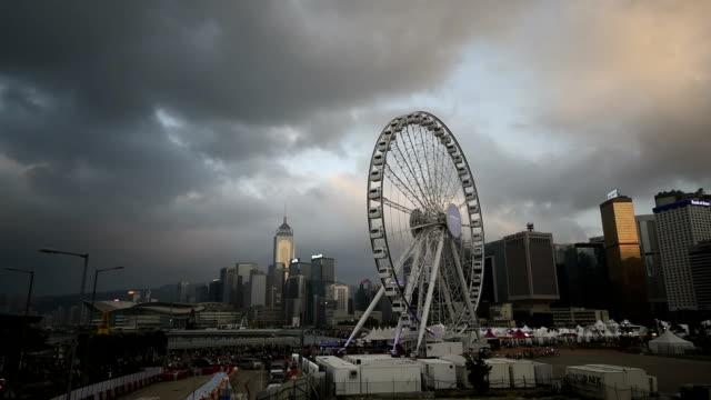 vídeos de stock, filmes e b-roll de ws cityscape of hong kong - ilha de hong kong