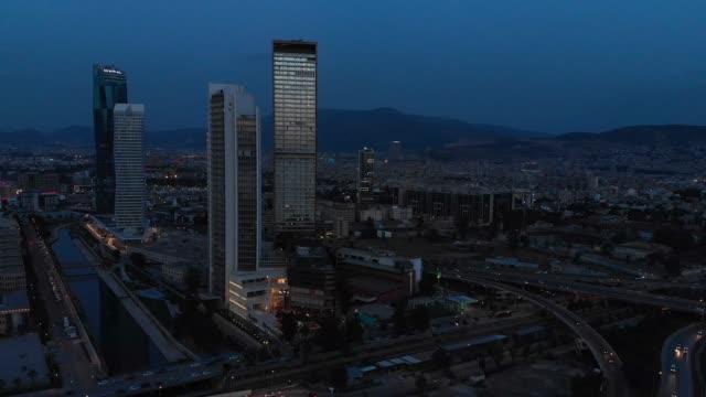 cityscape of izmir, turkey - izmir stock videos & royalty-free footage