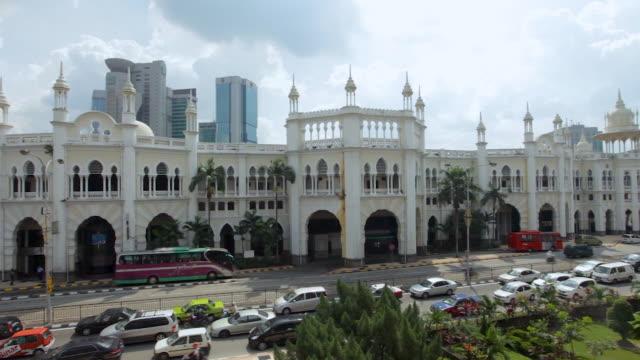 cityscape of kuala lumpur , malaysia - sultan abdul samad gebäude stock-videos und b-roll-filmmaterial
