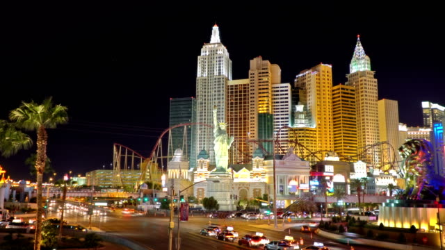 cityscape of las vegas - the strip las vegas stock videos and b-roll footage