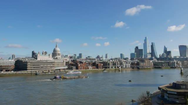 cityscape of london and the river thames. - sunny stock videos & royalty-free footage