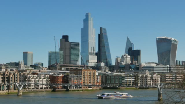 cityscape of london - skyline stock videos & royalty-free footage