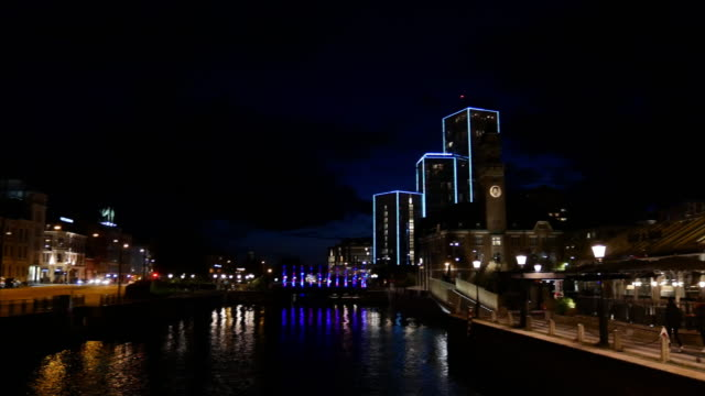 cityscape of malmo, sweden - downtown stock videos & royalty-free footage