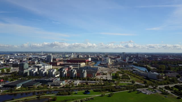 cityscape of malmo, sweden - malmo stock videos and b-roll footage