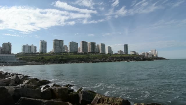 cityscape of mar del plata city - mar stock videos & royalty-free footage