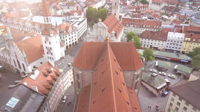 Cityscape of Marienplatz square at Munich
