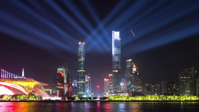 cityscape of modern city in guangzhou,time lapse - guangzhou stock videos & royalty-free footage