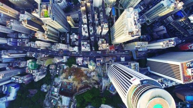 vidéos et rushes de paysage urbain de la ville moderne à hong kong - central district de hong kong