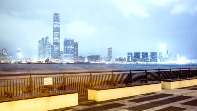 cityscape of modern city,hongkong,time lapse