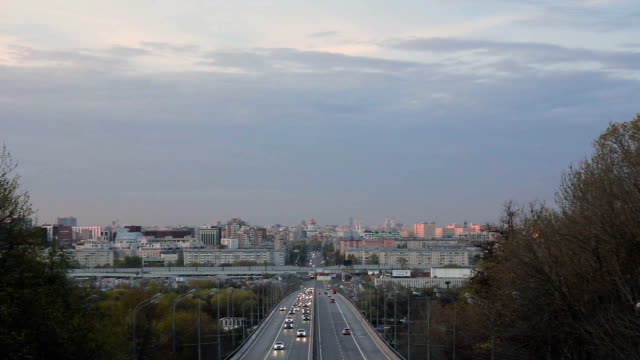 cityscape of moscow with road traffic - moscow russia stock videos & royalty-free footage