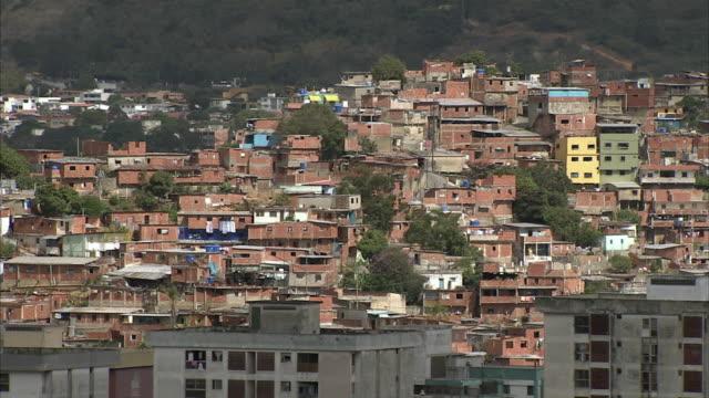 ws pan cityscape of petare / caracas, miranda, venezuela - caracas stock videos & royalty-free footage