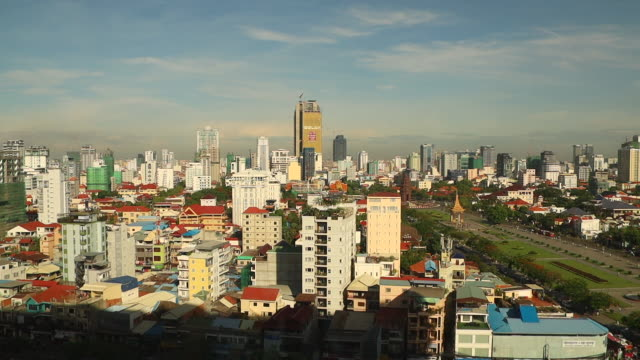 cityscape of phnum penh / cambodia - capital cities stock videos & royalty-free footage