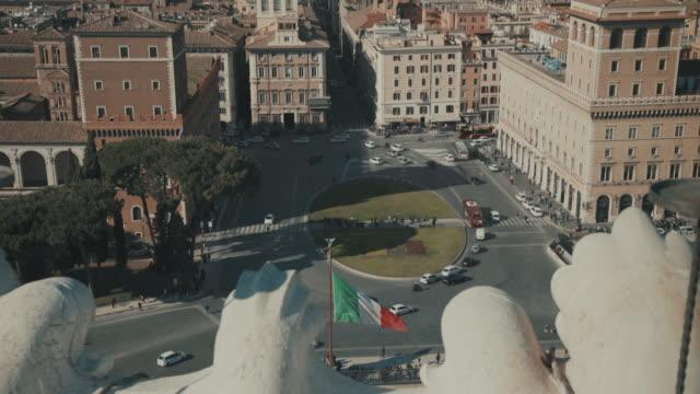cityscape of piazza venezia and rome in 4k - piazza venezia stock videos and b-roll footage