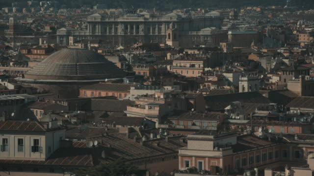 cityscape of rome in 4k: the pantheon - pantheon rome stock videos and b-roll footage