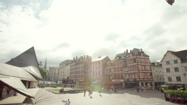 cityscape of rouen / france - ノルマンディー点の映像素材/bロール