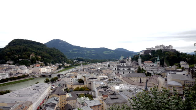 cityscape of salzburg - traditionally austrian stock videos & royalty-free footage