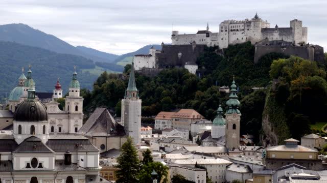 stockvideo's en b-roll-footage met stadsgezicht van salzburg - oostenrijkse cultuur