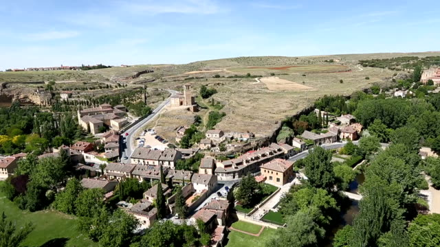 VDO : Cityscape of Segovia from Alcazar , Segovia , Spain