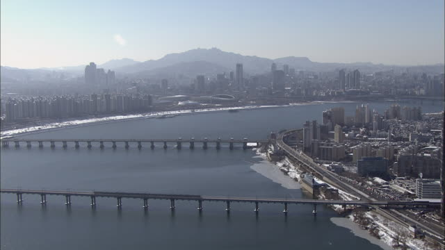 Cityscape of Seoul with Hangang River