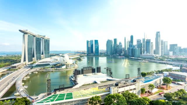 Stadtlandschaft von Singapur, Zeitraffer