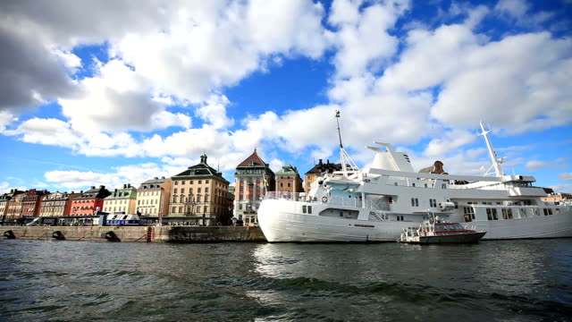 cityscape of stockholm,sweden - sweden stock videos & royalty-free footage