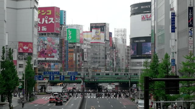 cityscape of tokyo. japan - bus billboard stock videos & royalty-free footage