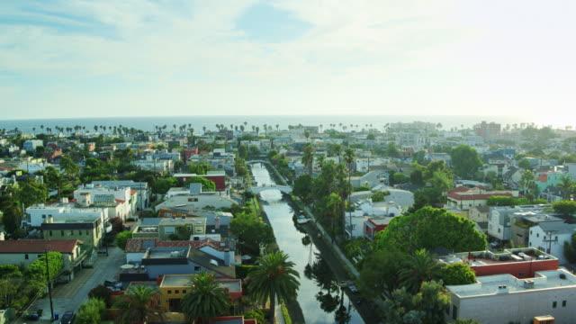 Cityscape of Venice, California - Drone Shot