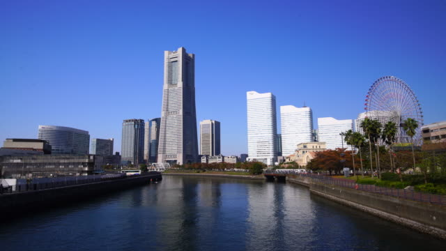 cityscape of  yokohama in japan - waterfront stock videos & royalty-free footage