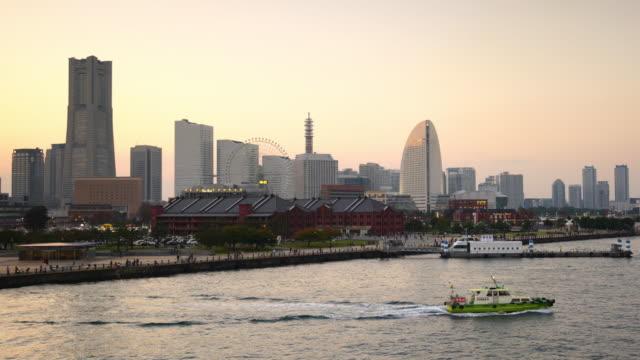 cityscape of  yokohama in japan - yokohama stock videos and b-roll footage