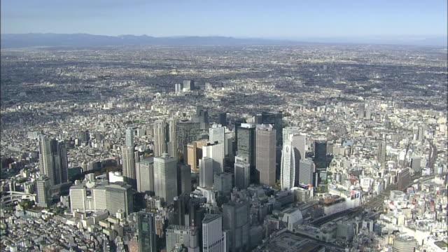 AERIAL, Cityscape Over Shinjuku, Tokyo