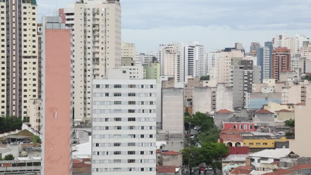 cityscape, são paulo, brazil - liberdade stock-videos und b-roll-filmmaterial