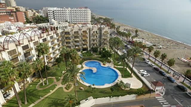 Cityscape stock shots of Torremolinos resort town in Costa Del Sol