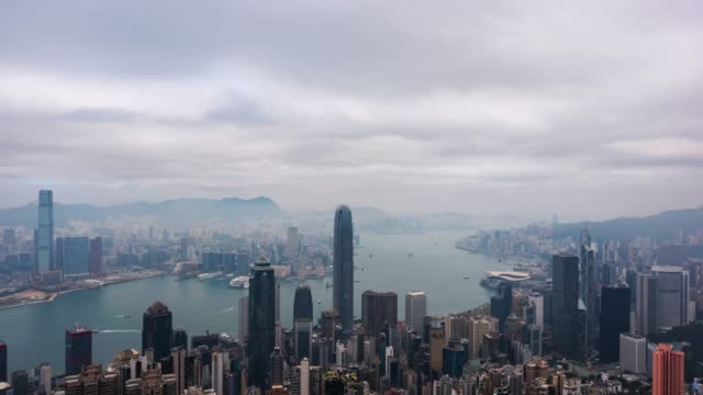 cityscape time lapse in hong kong.cities and architecture.hong kong - video - government building stock videos & royalty-free footage
