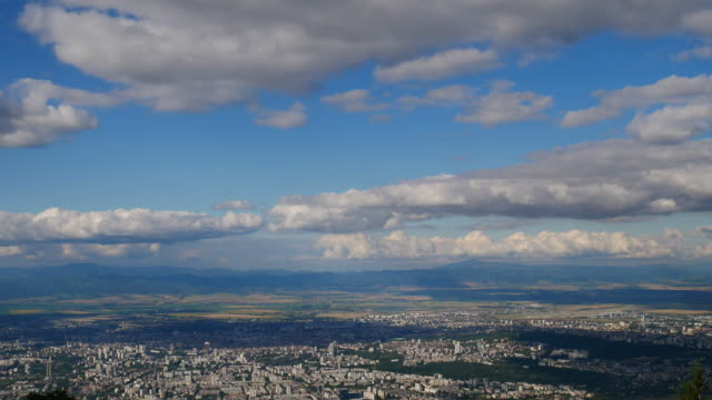 cityscape time lapse of sofia city - eastern european culture stock videos & royalty-free footage