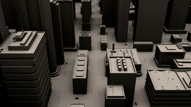 cityscape - architectural model stock videos and b-roll footage
