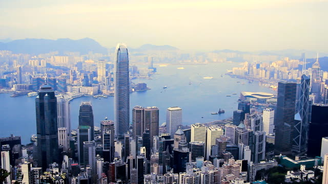 cityscape - victoria peak stock videos & royalty-free footage