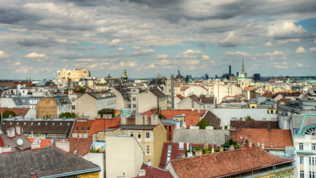 cityscape vienna - time lapse (4k hdr) - vienna austria stock videos & royalty-free footage