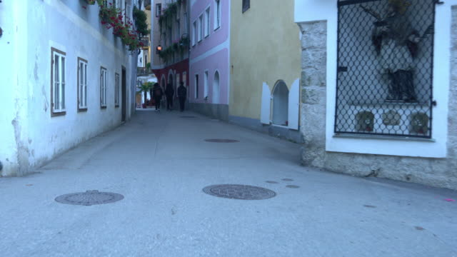 cityscape view of hallstatt village austria - traditionally austrian stock videos & royalty-free footage