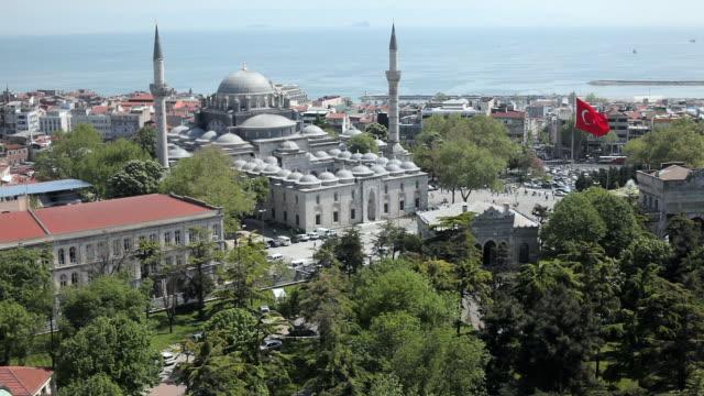 ws ha cityscape with beyazit mosque, istanbul, turkey - wide shot stock videos & royalty-free footage