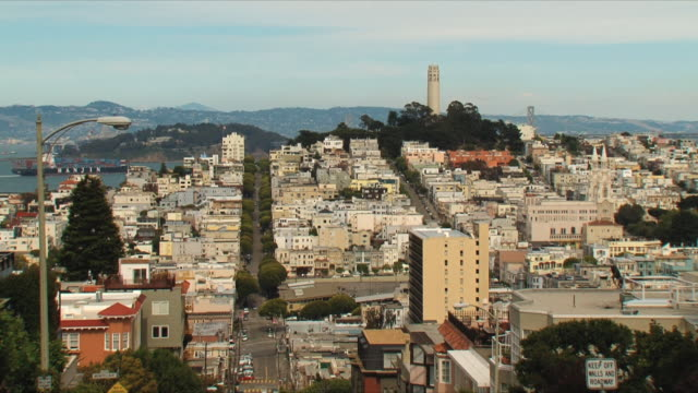 WS HA Cityscape with Coit Tower / San Francisco, California, USA