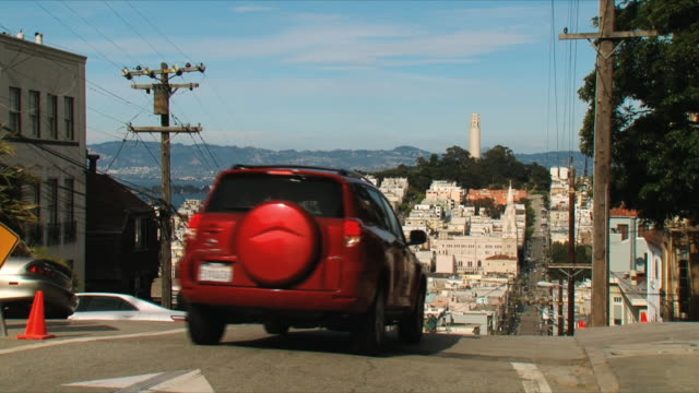 ws cityscape with coit tower / san francisco, california, usa - coit tower stock videos & royalty-free footage