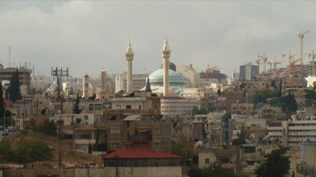 WS Cityscape with King Abdullah I Mosque / Amman, Jordan