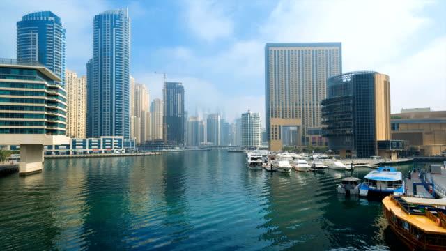 Cityscape with marina
