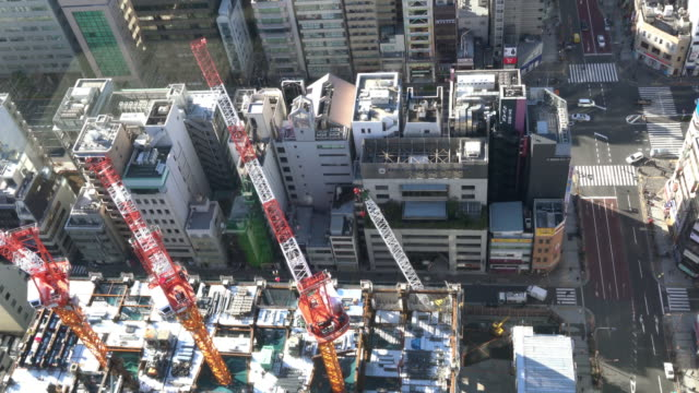 4K Cityscapes Crane and construction