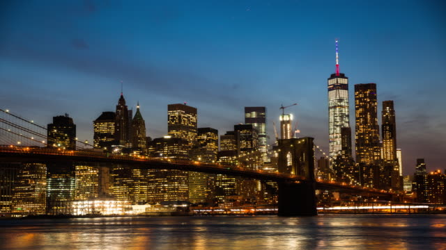 4k cityscapes, landscapes & establishers : manhattan skyline day to night, new york city - day to night time lapse stock videos & royalty-free footage