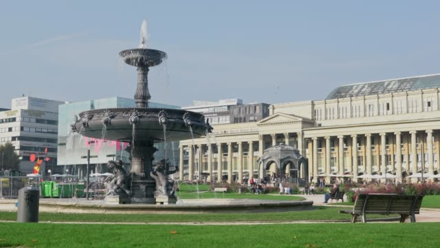 cityscapes of stuttgart city - german culture stock videos & royalty-free footage