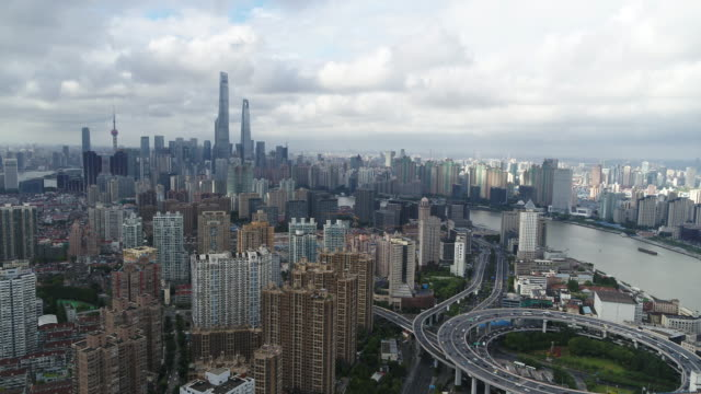 cityscapes shanhai drone - wide stock-videos und b-roll-filmmaterial