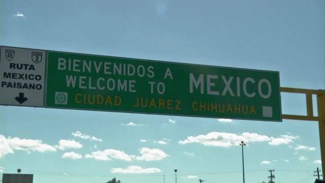 ciudad juarez on the border between mexico and the united states recently had the highest murder rate in the world due to a brutal drugs war. clean :... - drug trafficking stock videos & royalty-free footage