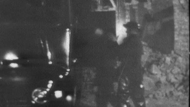 1957 montage civil defense forces help survivors amidst devastation / united kingdom - emergency planning stock videos and b-roll footage