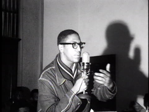 a civil rights leader motivates a crowd during the voter registration drive in selma alabama - 1965 selma marches stock videos & royalty-free footage
